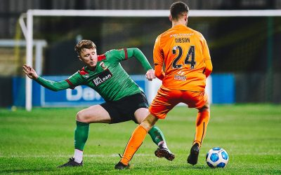 Glentoran puts five past Carrick Rangers before half time